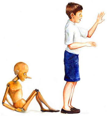 Pinocchio diventa bambino