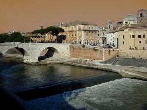 Il salto del Tevere a Ponte Cestio