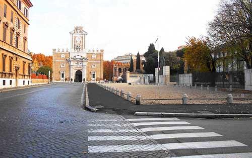 Porta Pia e l'ambasciata britannica