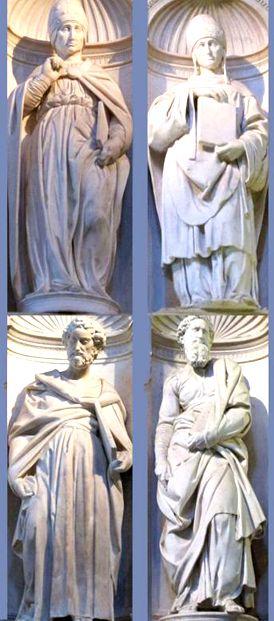 Quattro statue Michelangelo
