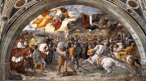 Raffaello «L'incontro fra papa Leone Magno e Attila»