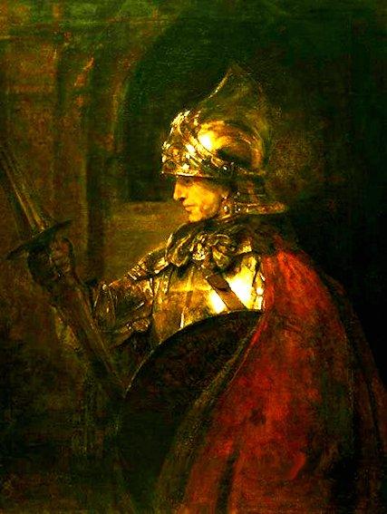 Rembrandt «Uomo con armatura» Rudolf Steiner riconobbe nel quadro un ritratto di Christian Rosenkreutz