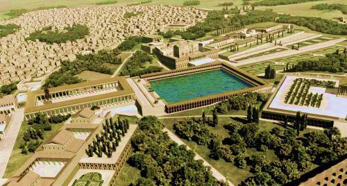 Ricostruzione del progetto della Domus Aurea di Nerone realizzata dalla Soprintendenza Beni Archeologici e Culturali