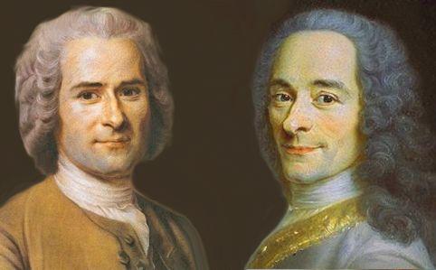 Rousseau e Voltaire