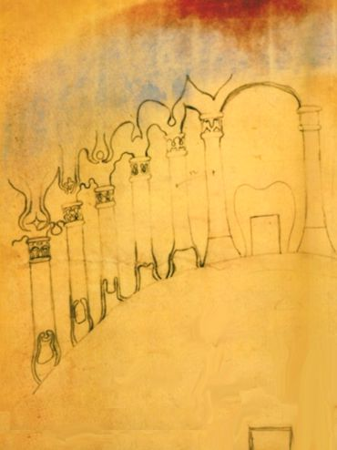 Rudolf Steiner – Schizzo per colonne e capitelli – Congresso di Monaco del 1907
