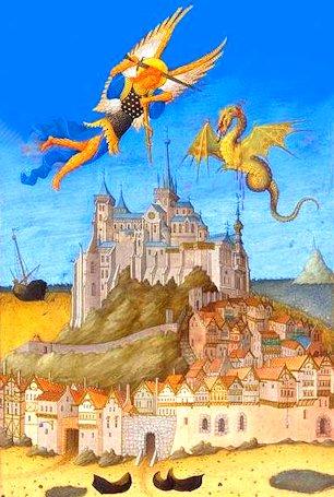 San Michele precipita il drago sulla Terra