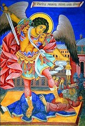 San Michele tormenta l'anima dell'uomo ricco