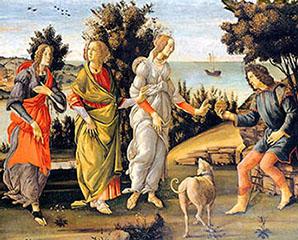 Sandro Botticelli «Il giudizio di Paride»