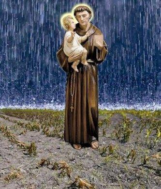 Sant'Antonio e la pioggia