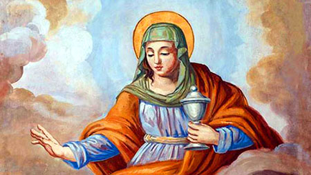 Affresco raffigurante Santa Maria Salome