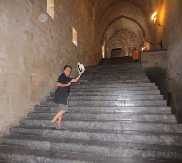 Scalone del Castello del Gran Maestro dei Cavalieri di Rodi