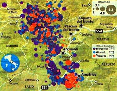 Scosse terremoto