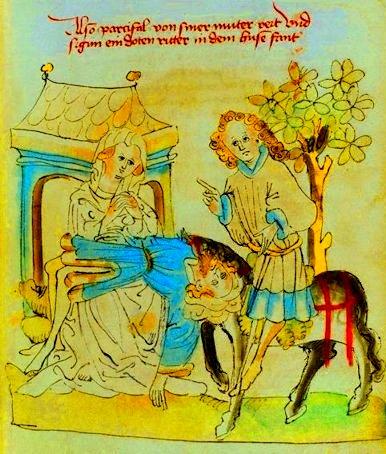 Sigune con lo sposo morto e Parsifal