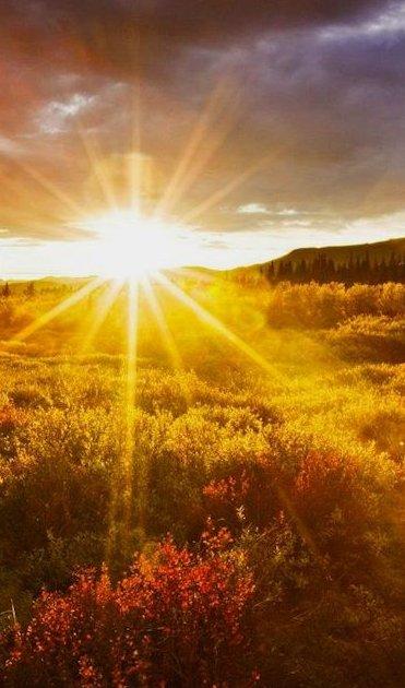 Sole che sorge