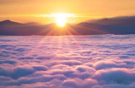 Sole sopra le nuvole