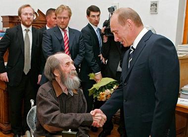 Alexander Solzenicyn e Vladimir Putin