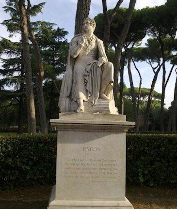 Statua di Lord Byron