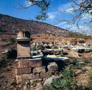 Rovine del tempio di Artemide in Aulide