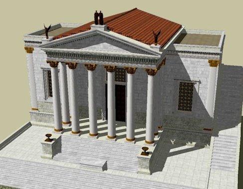 Ricostruzione del Tempio della Concordia
