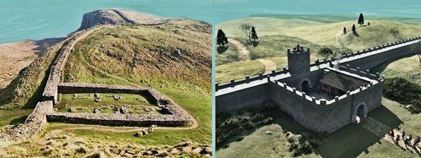 I resti del Vallo di Adriano e una sua ideale ricostruzione