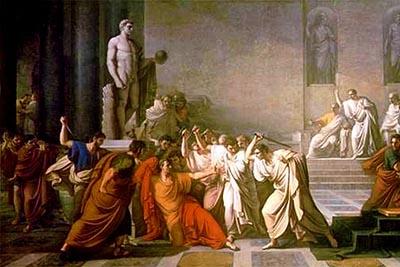 Vincenzo Camuccini «Morte di Cesare»