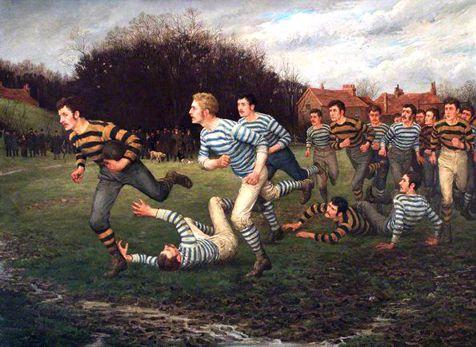 William Barnes «Giocatori di palla ovale»