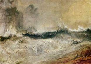 William Turner «Onde che si infrangono contro il vento»