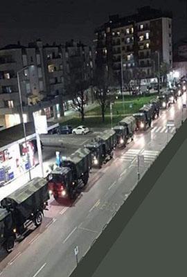 camion militari con bare