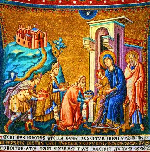 Pietro Cavallini «Epifania» Mosaico sec. XIII – Santa Maria in Trastevere, Roma