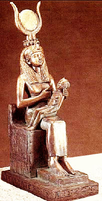 Iside e il figlio Horus
