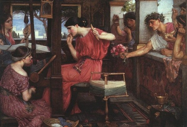 John William Waterhouse «Penelope e i pretendenti»