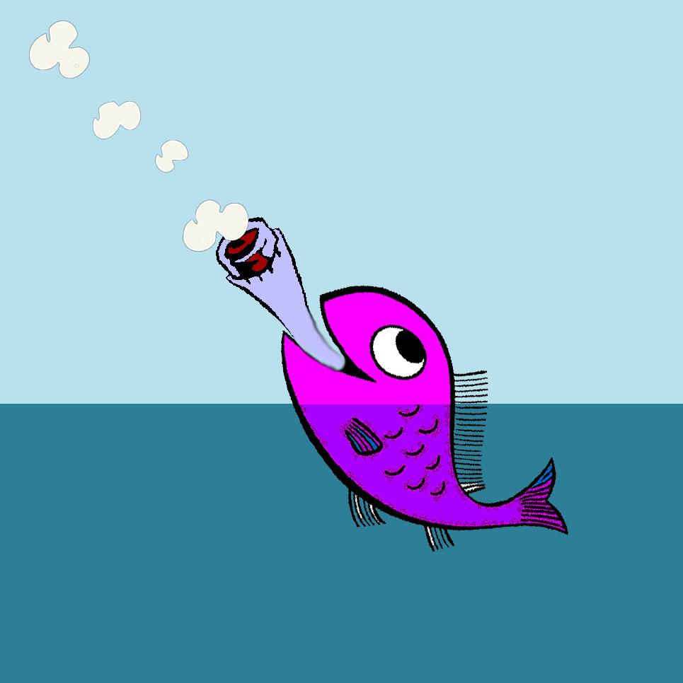 pesce che fuma
