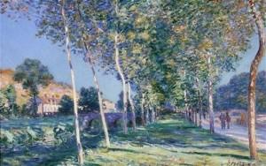 Alfred Sisley  «Il viale dei pioppi a Moret»
