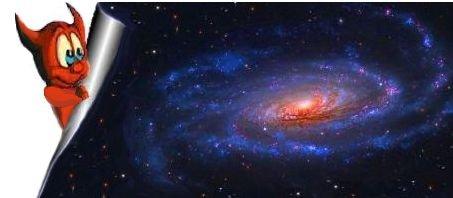 Spirale cosmica con diavoletto