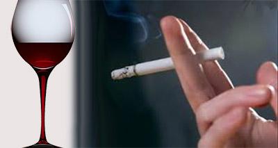vino e sigaretta